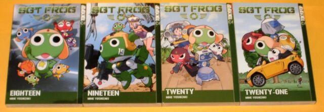 SGT. FROG VOLUME 18, 19, 20 & 21  (Tokyopop USA ~ 4 MANGA LOT ~ Yoshizaki TP GN)