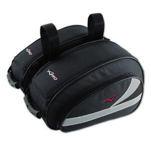 Panniers Motorcycle Motorbike Bags Pair Luggage 26Lt 1 Throw Over Black
