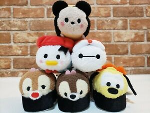 Disney Store Japan Sushi Figure Set Mickey Friends Chip dale Alien Tsum Tsum NEW