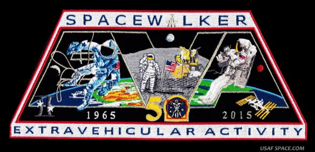 "SPACE WALKER -EVA- EXTRAVEHICULAR ACTIVITY -50 YEARS- 10"" INCREDIBLE SPACE PATCH"
