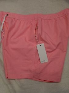 Onia-Nylon-Blend-Charles-5-Coral-Gingham-Check-Swim-Trunk-NWT-XL