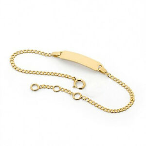 Image Is Loading 18k Gold Filled Baby Id Bracelet For Boy