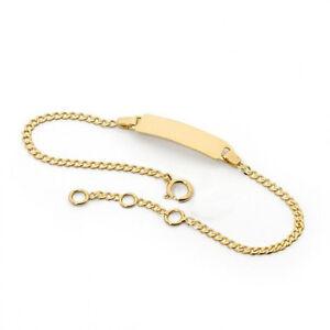 Image Is Loading 18k Gold Filled Baby Id Bracelet For Boy