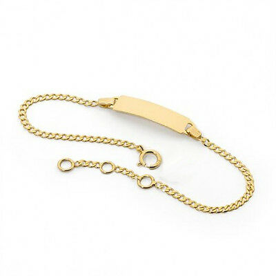 6-1//2 18kt Brazilian Gold Filled Kids ID Bracelet 1-0950-j5