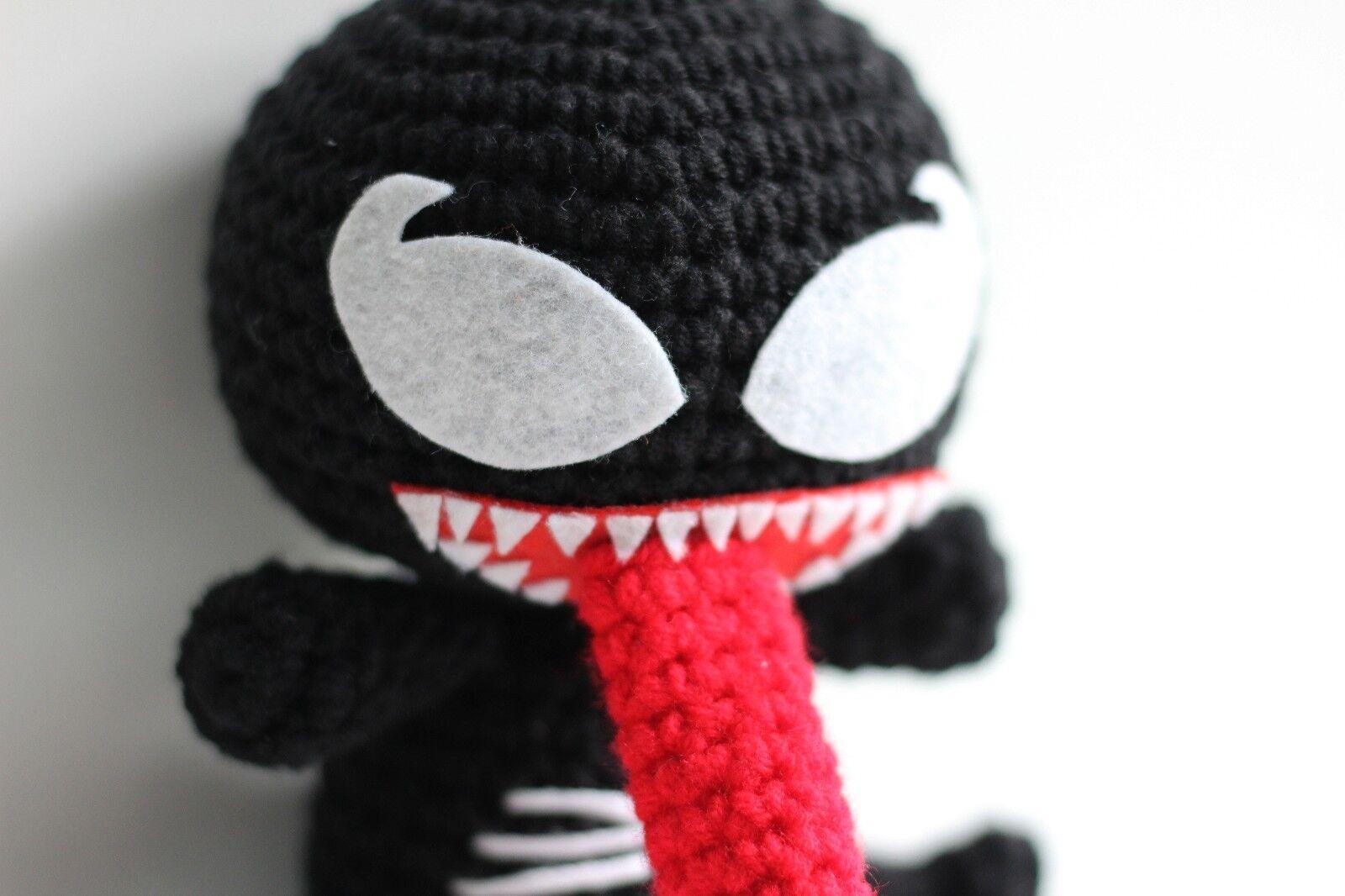 Venom amigurumi crochet toy for geek comics hero alien | Etsy | H.i.s | 1066x1600