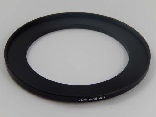 Step Up Adaptador del filtro metal negro 72mm />/>/> 95mm
