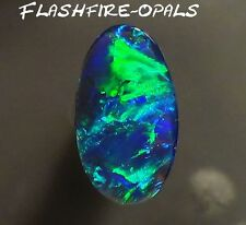 1.8ct. GEM BLACK/NOBBY OPAL BRILLIANT BLAU/TÜRKISE-GRÜN Video FLASHFIRE-OPALS