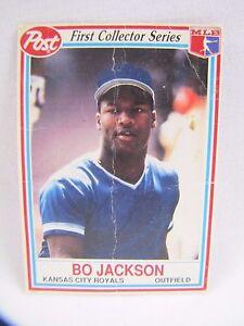Details About Bo Jackson Baseball Card Kansas City Royals 1990 Post First Collector Series