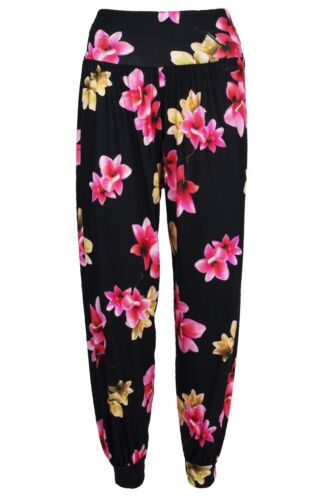 Ladies Womens Leggings Floral Ali Baba Baggy Harem Aladdin Hippy Trousers Pants