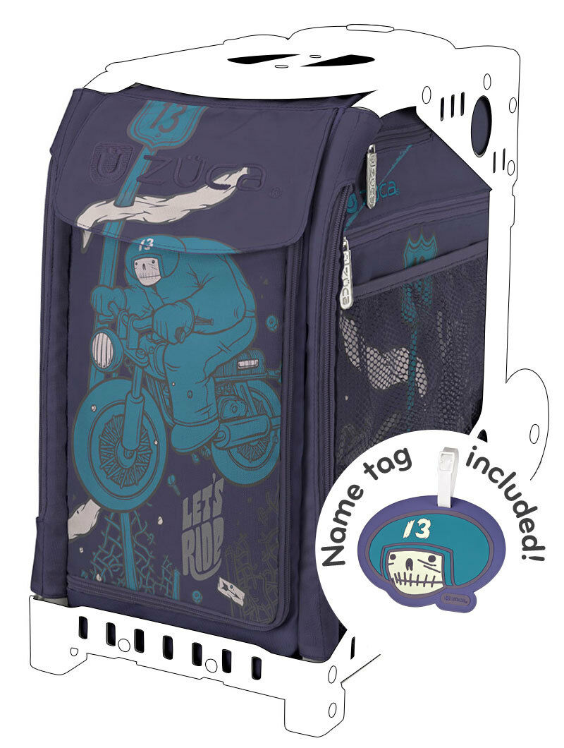 ZUCA Sports Insert Bag - LET'S RIDE - Free name tag  - No Frame