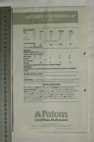 2 Book Choice FamR DIANA 501 by Panda Ladies Knitting Patons 216 8/&12 Ply