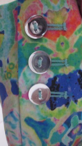 imprimé multicolore Veste skinny Sz 2 kaléidoscope à coton skinny stretch Milly en 0z6TwqwA