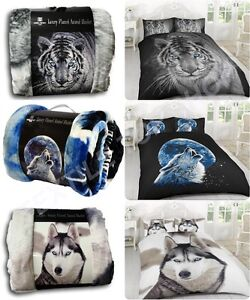 3D-ANIMAL-PRINTED-SOFA-BED-THROW-FLEECE-CHICK-BLANKET-SOFT-WARM-DOUBLE-KING