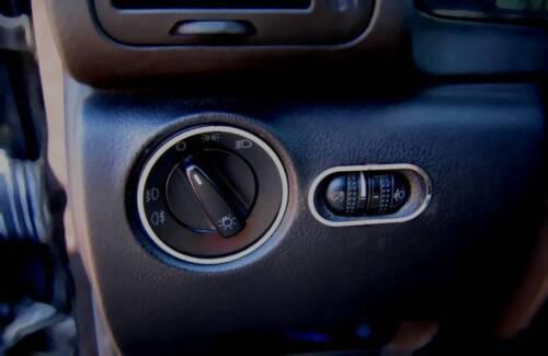 Leuchtweitenregler D VW Passat B5 Chrom Ring für Lichtschalter Edelstahl