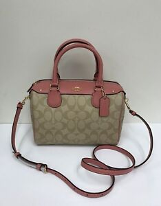 e4a021ee1f1a6 Image is loading NWT-Coach-Mini-Signature-Bennett-Crossbody-Satchel-F58312-