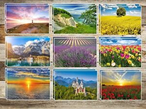 20-St-LANDSCHAFTSKARTEN-SET-1-Postkarten-Set-Ansichtskarten-Landschaften-Natur