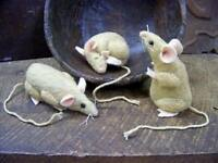 Primitive 4 Regular-sized Mouse Mice Sewing Paper Pattern