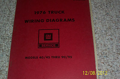 Chevy / GMC 1976 Truck Wiring Diagrams For Models 40/45 ...