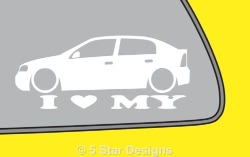 2x LOVE LOW Vauxhall Astra mk4 G 5 door outline sticker LR174