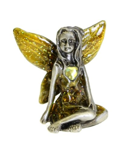 Pewter Fairy Birthstone Collectables Fairies with Glitter Wing Gemstone Ornament