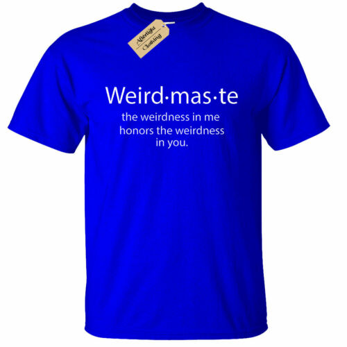 Mens Weirdmaste Weirdness In Me T-Shirt Yoga Workout Gym