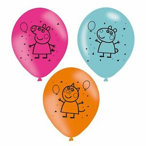"""12/"""" Peppa Pig George Birthday Party Latex Mixed Colour Balloons Decorations."""