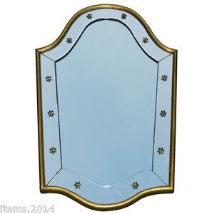 """Complexé """"miroir Art Deco 1940/1950 Encadrement Bois Dore"""""""