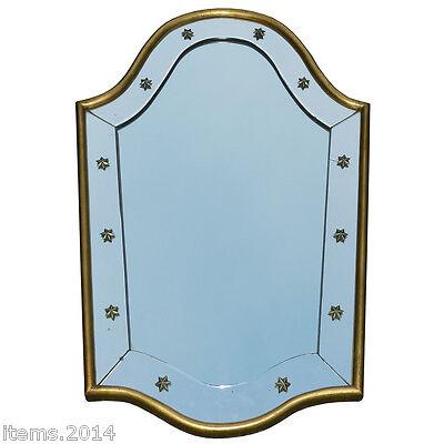"""""""Miroir Art Deco 1940/1950 Encadrement Bois Dore"""""""