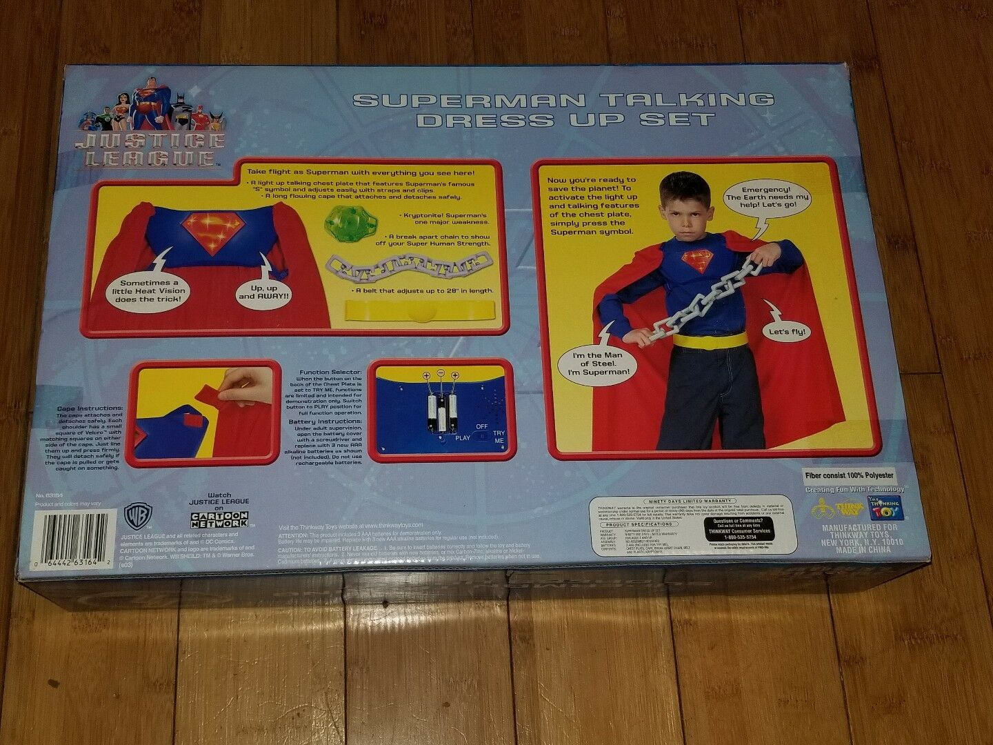 DC Justice League Superman Superman Superman Talking Dress Up Set Thinkway Toys Very Rare 2B RyRo 70d409