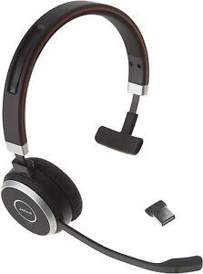 Jabra Evolve 65 Ms Mono Wireless Headset W Link 370 Usb Dongle Hsc018w 706487015130 Ebay