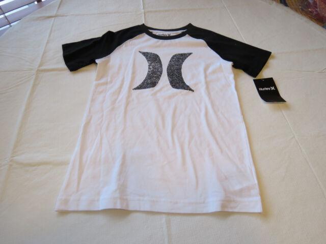 NWT New Hurley Logo Boys Cotton T-Shirt White Size 6