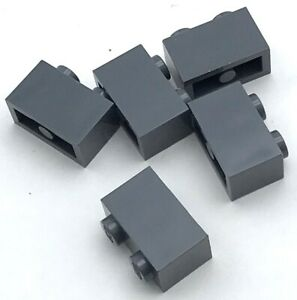 Lego 5 New Dark Bluish Gray Bricks Modified Facet 2 x 2 Pieces