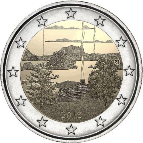 Finland 2 euro coin  2018 UNC Finnish sauna culture