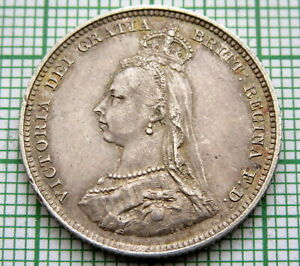 GREAT-BRITAIN-QUEEN-VICTORIA-1887-JUBILEE-SHILLING-SILVER-TOP-GRADE-PATINA
