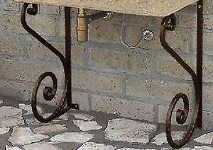 Staffe Per Mensole In Ferro.Coppia Di Staffe In Ferro Per Lavandino Lavello Staffa Mensola