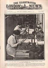 1917 London News March 3 - Women make the machine guns; BSA motorcycle; Arabs