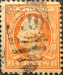 Scott-379-US-1911-6c-Washington-Postage-Stamp-Perf-12-VF
