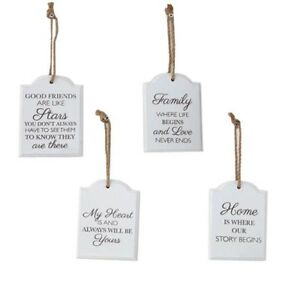 Love Plaques Quotes Magnificent White Wooden Gift Plaque Hanging Signs Inspiring Quotes Home Love
