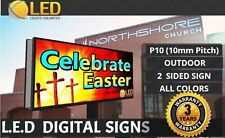 P10 2 Sided 3ft36 X 7ft84 Full Color Led Digital Sign Board Outdoor
