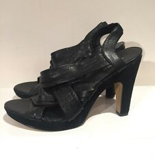 80e2810a5d20 item 3 Nine West Black Leather And Suede Strappy Sandals Heels 8 41 (US10W)  -Nine West Black Leather And Suede Strappy Sandals Heels 8 41 (US10W)