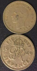 King-George-VI-Sixpence-Coin-Wedding-Something-Old-UK-English-6-Pence-Free-Ship