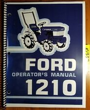 Ford 1210 Tractor 1983 87 Owners Operators Manual Se4065b 42121010