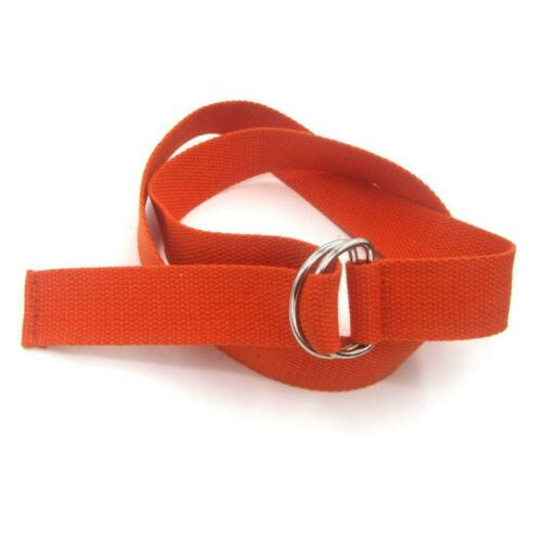 Men Women Canvas Web Belt Double D-Ring Buckle Military Style Waist Waistband
