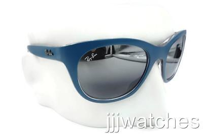38648f94fd New Ray Ban Highstreet Green Clear Gray Mirror Sunglasses RB4216 6191 88 56