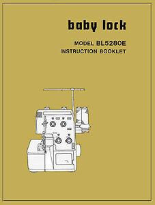 baby lock bl 5280e bl 5380e instruction manual service book cd rh ebay com Behringer Mixer Manuals Beretta BL 3 20 GA