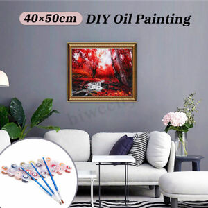 DIY-Paint-By-Numbers-Kit-Oil-Scenery-Painting-Canvas-Home-Wall-Art-Decor-40-50cm