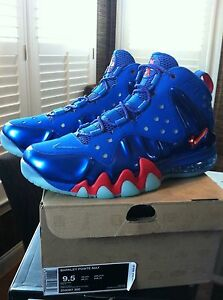 170780cfabf Nike Barkley Posite Max 76ers Sixers Energy Blue Fire Red 555097-300 ...