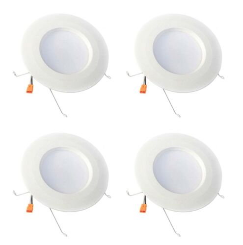 4 Pack Retrofit 5-6in White Recessed Trim LED Ceiling Lights 5000K EnviroLite