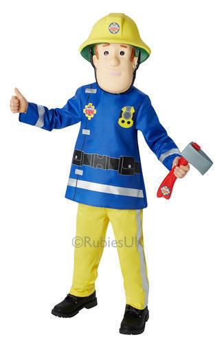 Boys Fireman Sam Childs Firefighter Fancy Dress Uniform Book Week Kids Costume