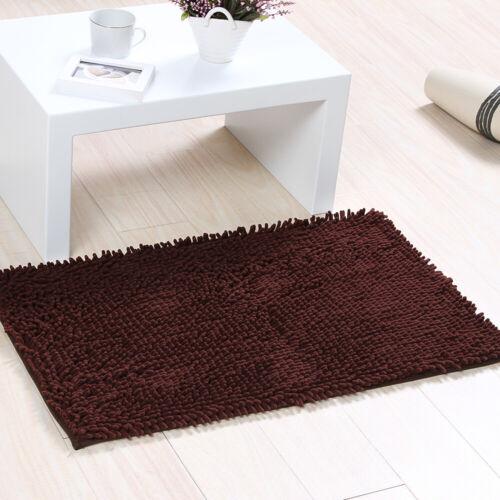 Bathroom Shower Bath Mat Rug Carpet Non-Slip Cushion 10 Colors US HOT